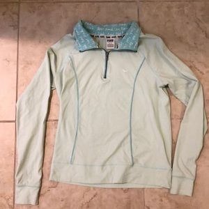 Victoria's Secret pink half zip sweatshirt